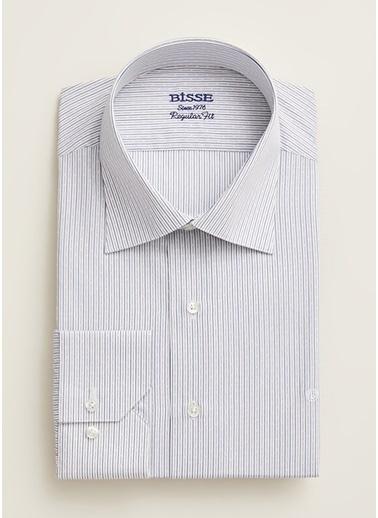 Bisse GM18Y80232 Regular Fit Çizgili Klasik Gömlek Bej